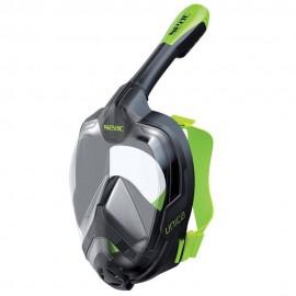 Máscara snorkel Seac Unica negro/lima adulto