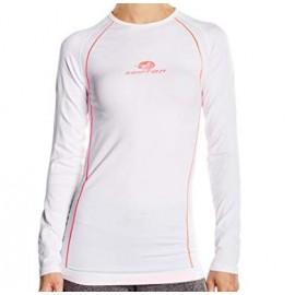 camiseta termica Pyros blanco mujer