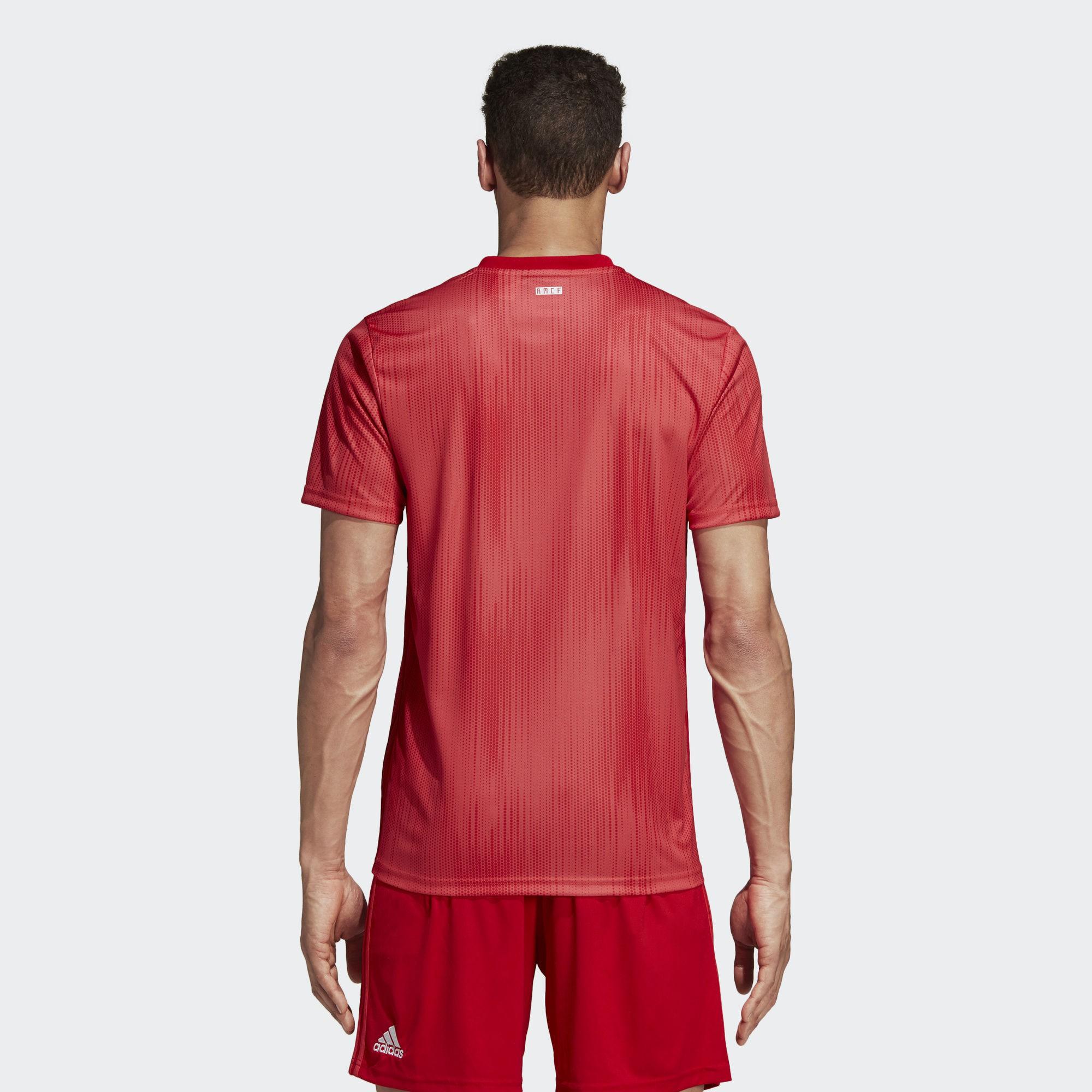 deb109460455f Camiseta Fútbol Adidas Real Madrid 3ª 2018 19 Roja Hombre - Deportes Moya