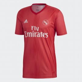 Camiseta fútbol adidas Real Madrid 3ª 2018/19 roja junior