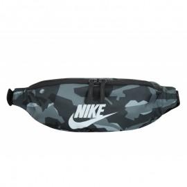 Riñonera Nike Heritage hip aop gris camuflaje