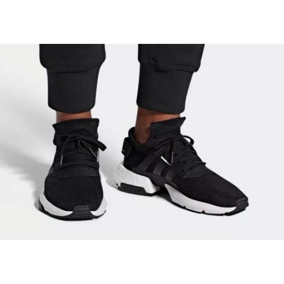 zapatilla adidas negra hombre