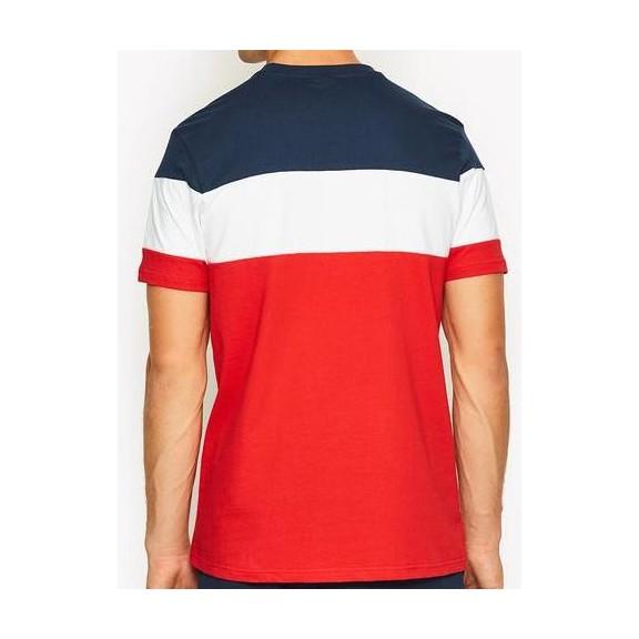 7cd21e259f Camiseta Ellesse Gubbio Rojo Blanco Marino - Deportes Moya