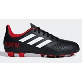 Zapatillas fútbol Adidas Predator 18.4 FxG negro niño