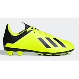 Zapatillas fútbol adidas X 18.4 FxG amarillas niño
