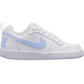 Zapatillas Nike Court Borough low (GS) blanco/azul junior