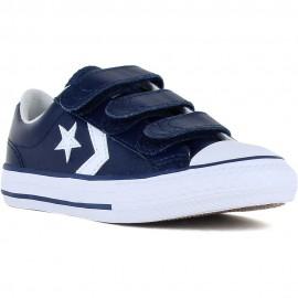 Zapatillas Converse Star player 3v ox azul/blanco niño