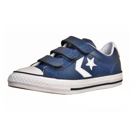 c43c2e9390e Zapatillas Converse Star player 3v ox azul blanco niño - Deportes Moya