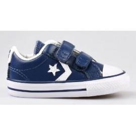 Zapatillas Converse Star player 2v ox azul/blanco bebé