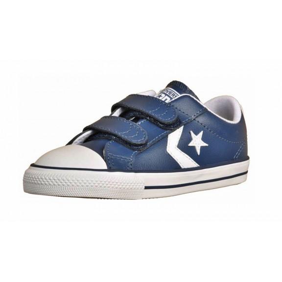 e2b9fe06700 Zapatillas Converse Star player 2v ox azul blanco bebé - Deportes Moya