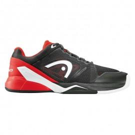 Zapatilla tenis Head Revolt Pro 2.0 hombre negro/rojo