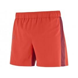 Pantalon trail running Salomon Agile 5¨ rojo hombre