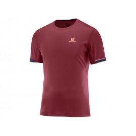 Camiseta trail running Salomon Agile + SS TEE roja hombre