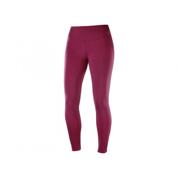 Mallas trailrunning Salomon Agile Warm Tight morada mujer