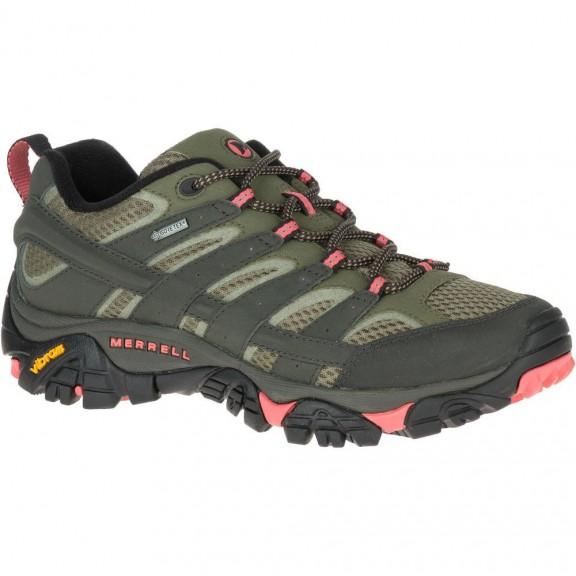 2d0520d0b7267 Zapatillas Trekking Merrell Moab 2 Gtx Oliva Mujer - Deportes Moya