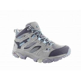 Botas trekking Hi-Tec Ravus Vent Mid WP gris/azul mujer