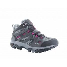 Botas trekking Hi-Tec Ravus Vent Mid WP gris/morado mujer