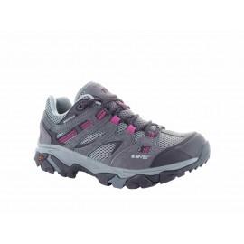 Zapatillas trekking Hi-Tec Ravus Vent Low gris/morado mujer