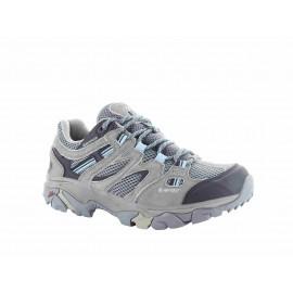 Zapatillas trekking Hi-Tec Ravus Vent Low WP gris/azul mujer