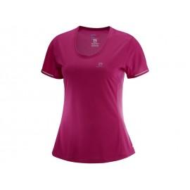 Camiseta trail running Salomon Agile SS morada mujer
