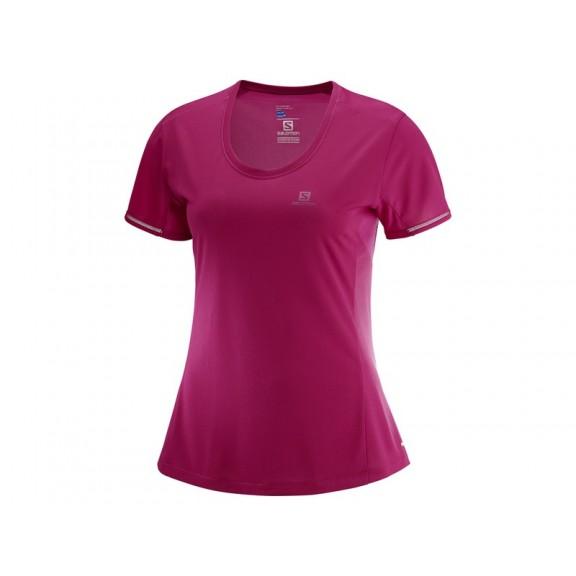 Camiseta Trail Running Salomon Agile Ss Morada Mujer - Deportes Moya a01df0d9a95