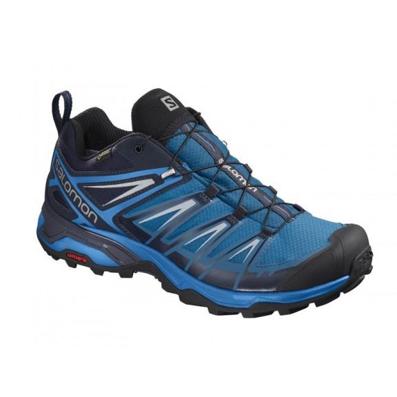 8da681198864a Zapatillas trekking Salomon X Ultra 3 GTX azul hombre - Deportes Moya