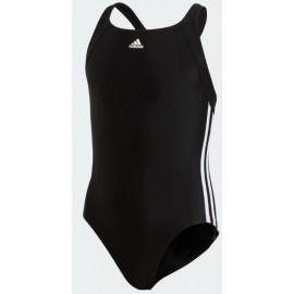 Bañador Adidas EC3S 3 bandas negro niña