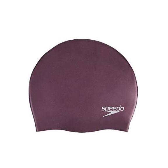 9ba6a112f Gorro natación Speedo Plain moulded silicona burdeos - Deportes Moya