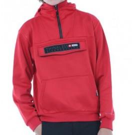 Sudadera polar +8000 Ibon J rojo junior