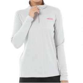 Camiseta senderismo +8000 Polari gris mujer