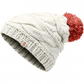 Gorro The North Face Triple Cable blanco mujer