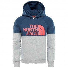 Sudadera The North Face Drew Peak azul gris junior