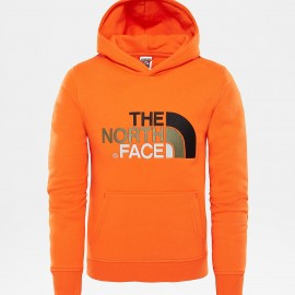 Sudadera outdoor The North Face Drew peak naranja junior