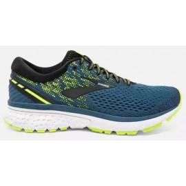 Zapatillas de running Brooks Ghost 11 azul/amarillo hombre