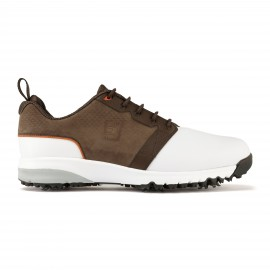Zapato golf FootJoy Contour fit blanco/marrón hombre