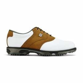 Zapato golf Dryjoys Tour blanco/marrón hombre
