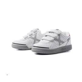 Zapatillas fútbol Munich G-3 profit 871 velcro blanco niño