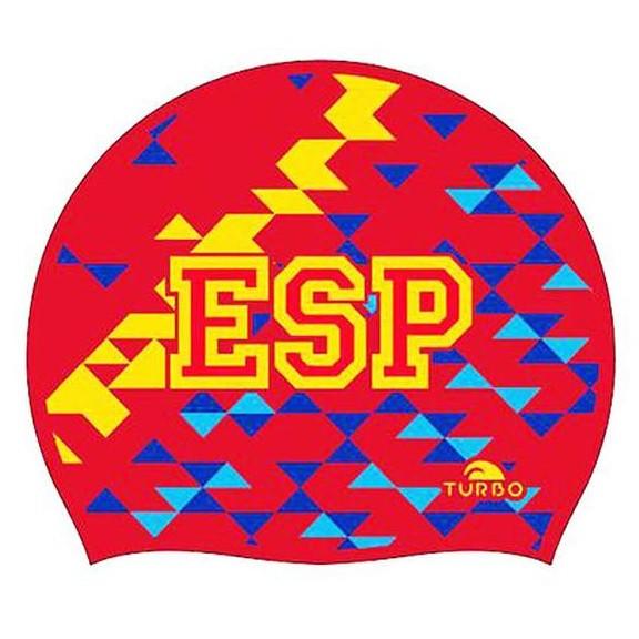 a36ca9c71 Gorro natación Turbo España silicona rojo - Deportes Moya