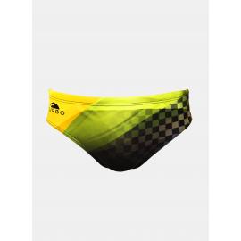 Bañador de waterpolo Turbo Dynamic negro amarillo hombre