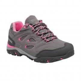 Zapatillas trekking Regatta Holcombe Low gris/rosa niña