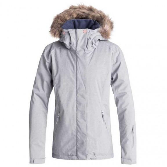 3ade48e0f34 Chaqueta para nieve Roxy Jet Ski Solid gris claro mujer - Deportes Moya