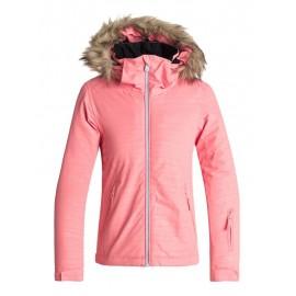 Chaqueta para nieve Roxy Jet Ski Girl Embossed rosa niña