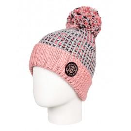Gorro Roxy Snowflurry Girl Beanie gris rosa niña