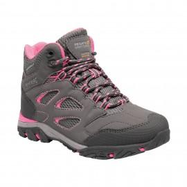 Botas montaña Regatta Holcombe IEP gris rosa niña