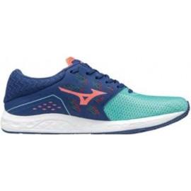 Zapatillas running Mizuno Wave Sonic verde/azul mujer