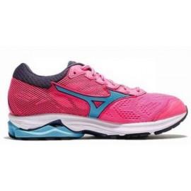 Zapatillas running Mizuno Wave Rider 21 rosa/azul mujer