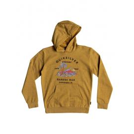 Sudadera capcuha Quiksilver Banzai Bar Hood amarillo niño