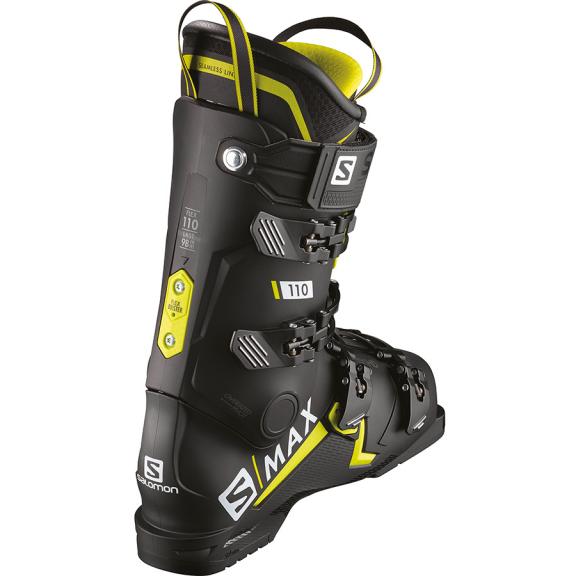 Botas esquí Salomon S/Max 110 negro verde acido hombre