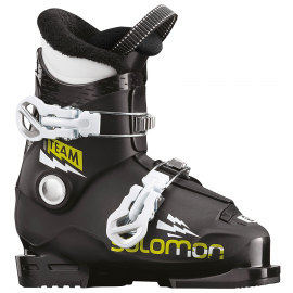 Botas Salomon Team T2 negro verde acido junior