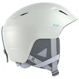 Casco esquí Salomon Pearl2+ blanco azul mujer